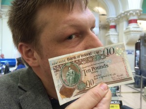 Admiring an N'iron tenner!